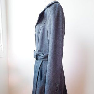 DKNY Charcoal Belted Pea Coat